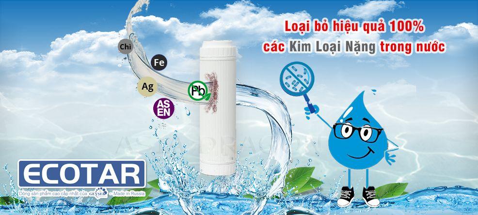 Ecotar 3 loại bỏ hiệu quả 100 kim loại nặng có trong nước