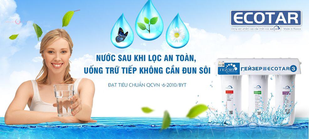 may loc ecotar 3 cho nguon nuoc sach uong truc tiep khong can dun soi
