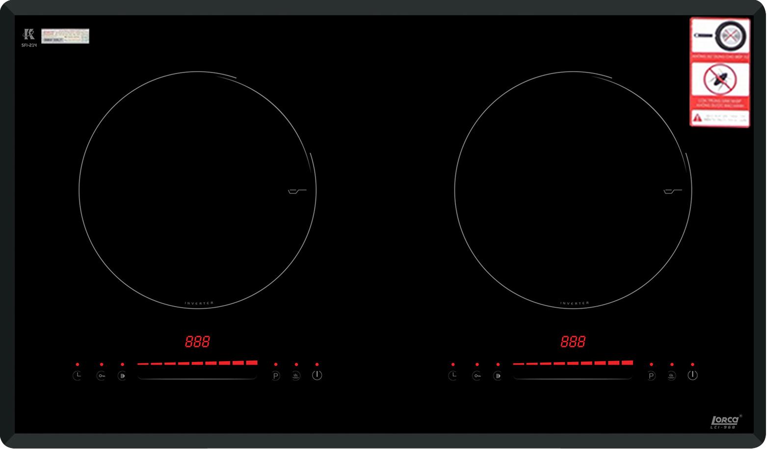 Mua bếp từ Lorca LCI-968 giá tốt nhất chỉ có tại HSN.VN