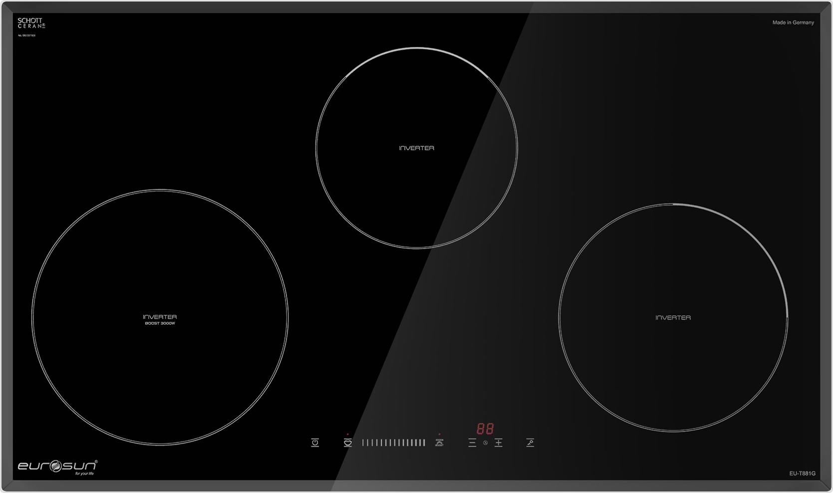 Mua bếp từ Eurosun EU-T881G nhập khẩu nguyên chiếc từ Đức giá tốt nhất chỉ  có tại HSN.VN